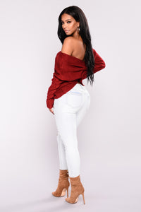 Falls Favorite Girl Sweater - Red