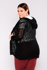 In The Know Cardigan - Black