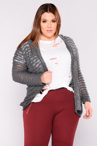 In The Know Cardigan - Grey
