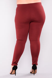 Flicker Moto Pants - Wine Angle 3