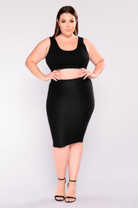 Charmer Bandage Skirt - Black