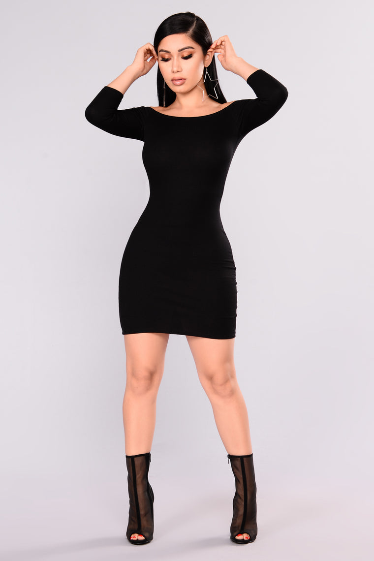 Lorraine Off Shoulder Dress - Black