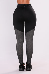 Cleo Performance Active Leggings - Charcoal