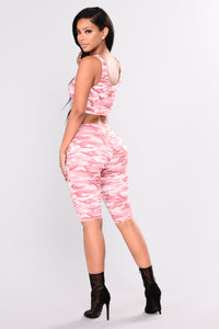 Baby Girl Camo  Lounge Set - Pink