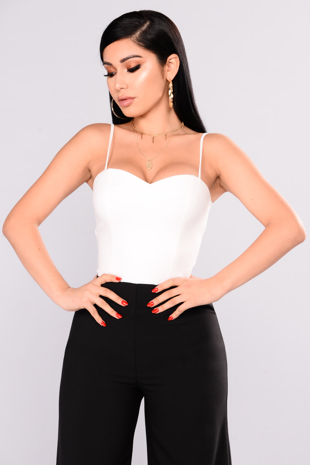 In Good Company Colorblock Jumpsuit - White/Black