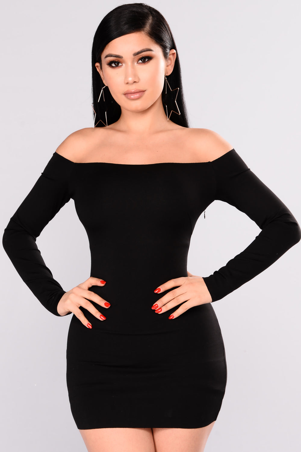 Jillian Bodycon Dress - Black