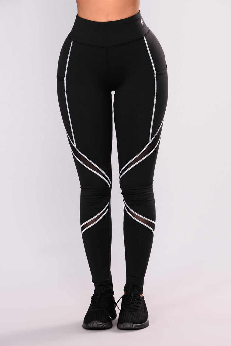 Jannell Performance Active Leggings - Black