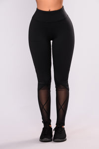 Gabriela Performance Active Leggings - Black