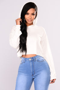 Honey Please Lounge Hoodie - White