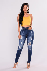 KiKi Cropped Top - Mustard Angle 3