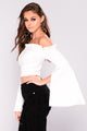 Crushin On You Off Shoulder Top - Ivory