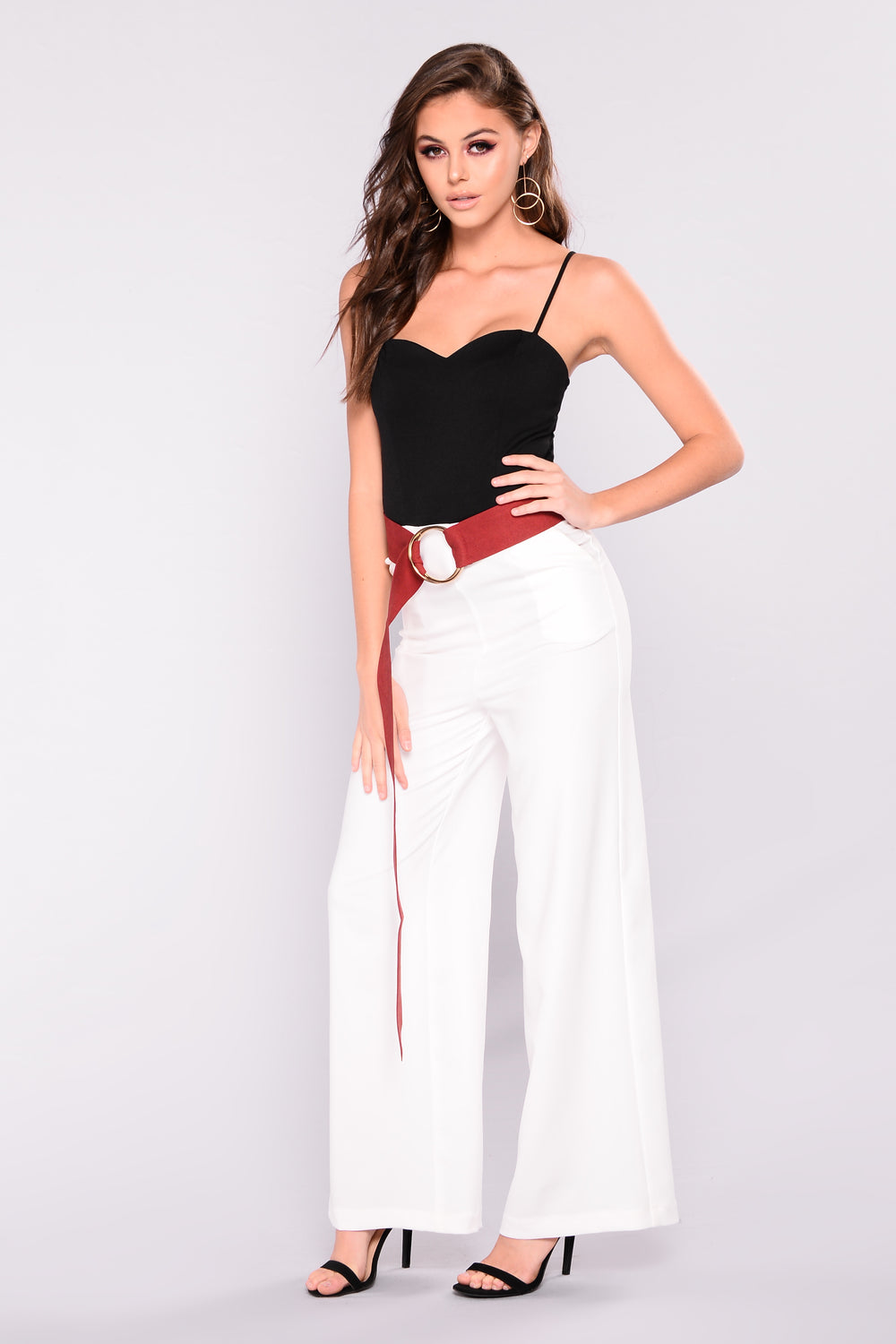 In Good Company Colorblock Jumpsuit - Black/White