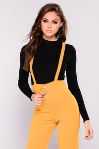 Jump In The Ring Jumpsuit - Mustard