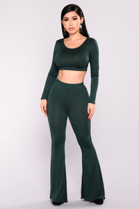 Albina Pant Set - Hunter Green