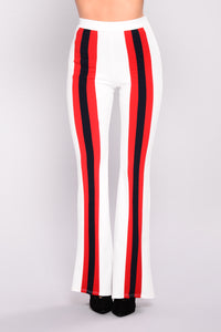 Maxine Stripe Pants - White Multi