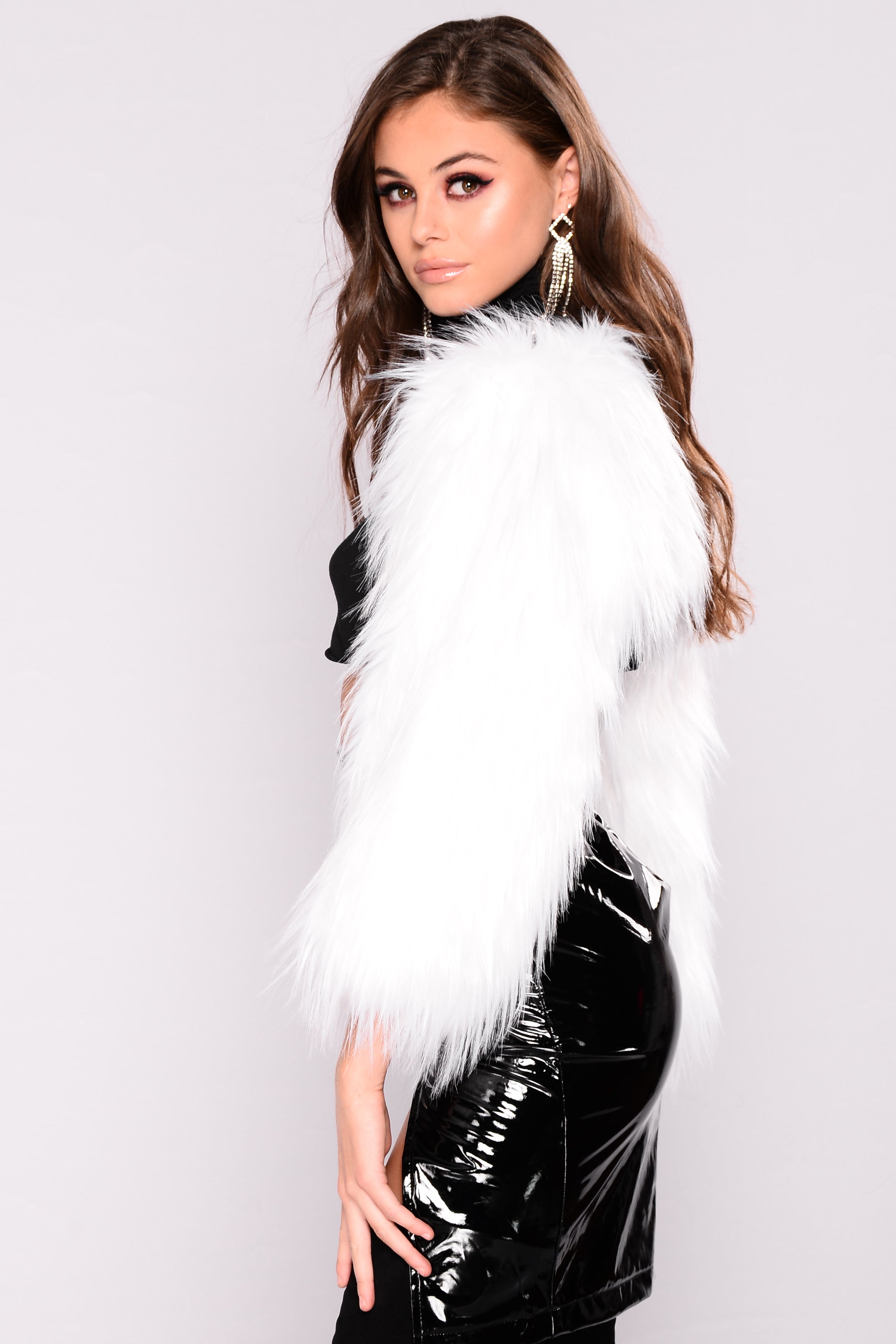 104acca69524 Linza Faux Fur Jacket - White