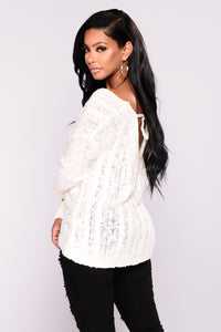 Carmen V Neck Sweater - Ivory