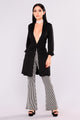 Amy Long Blazer - Black