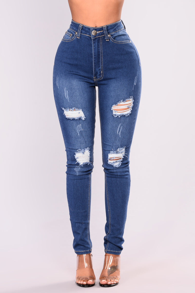 Above Level Skinny Jeans - Medium Blue Wash