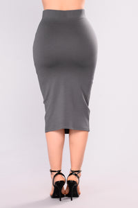 Pencil You In Skirt - Charcoal Angle 3