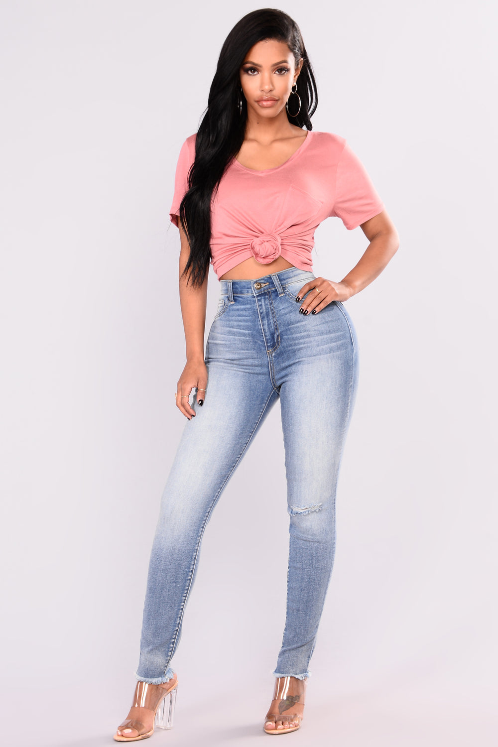 True This Skinny Jeans - Medium Blue Wash