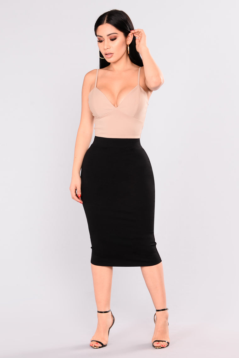 Pencil You In Skirt - Black