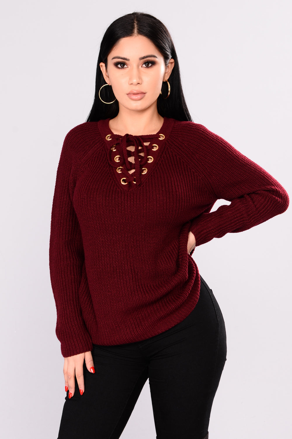 Melanie Sweater - Burgundy