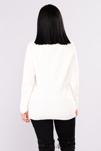Melanie Sweater - Off White Angle 3