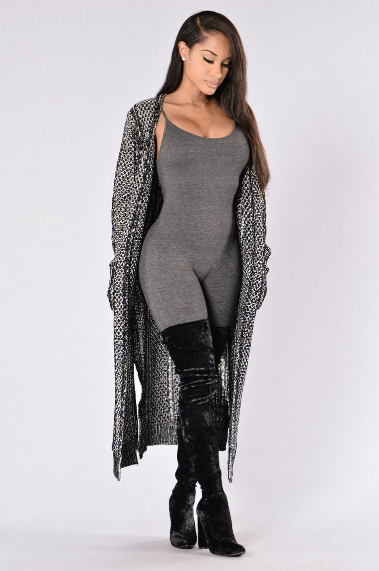 Warm and Cozy Sweater - Charcoal