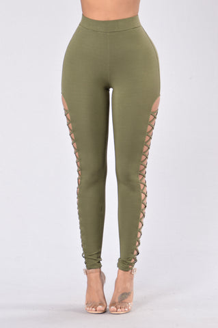 Jumpin' Jumpin' Leggings - Olive
