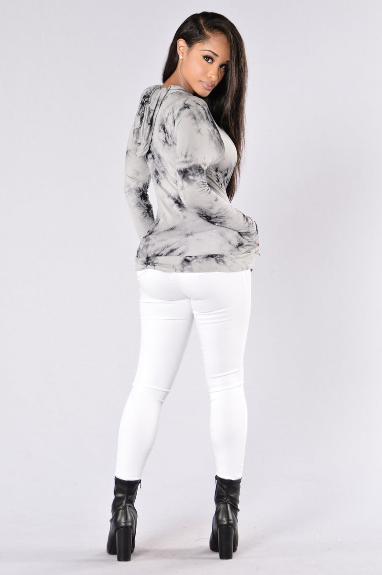 Splatter Top - Grey
