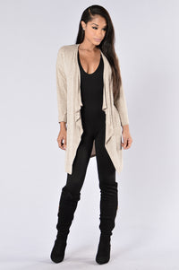 Easy Call Cardigan - Taupe