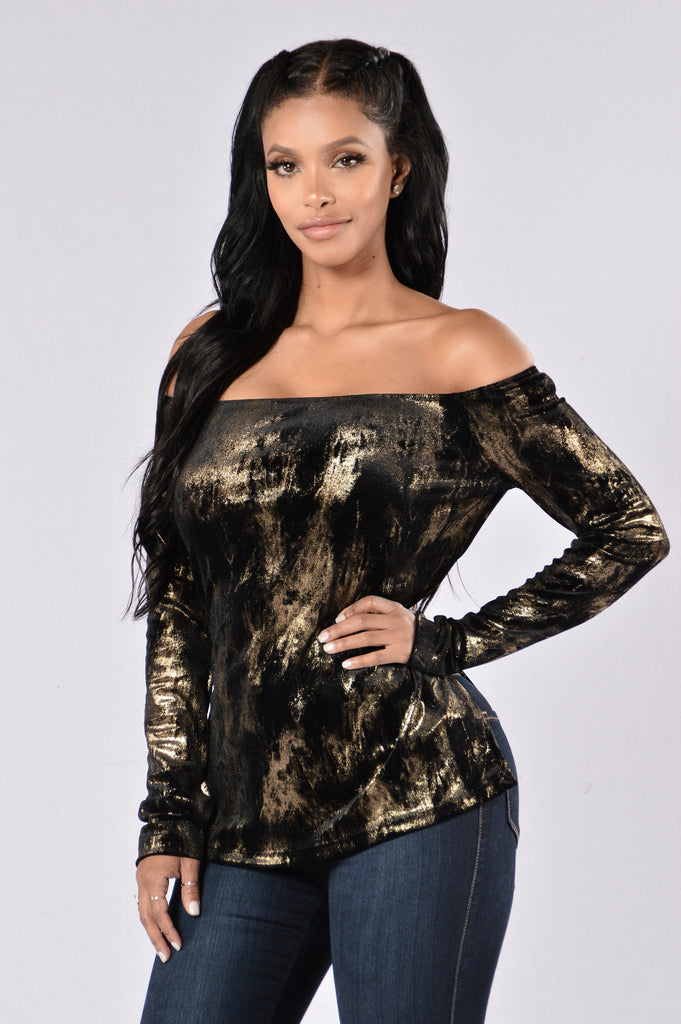 Reason To Believe Top - Gold/Black