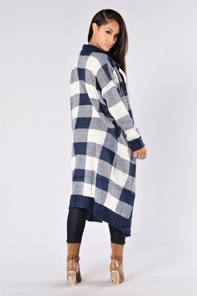 Checkmate Sweater - Navy