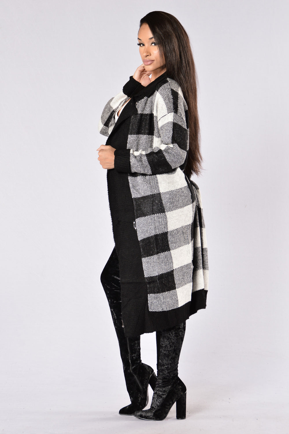 Checkmate Sweater - Black