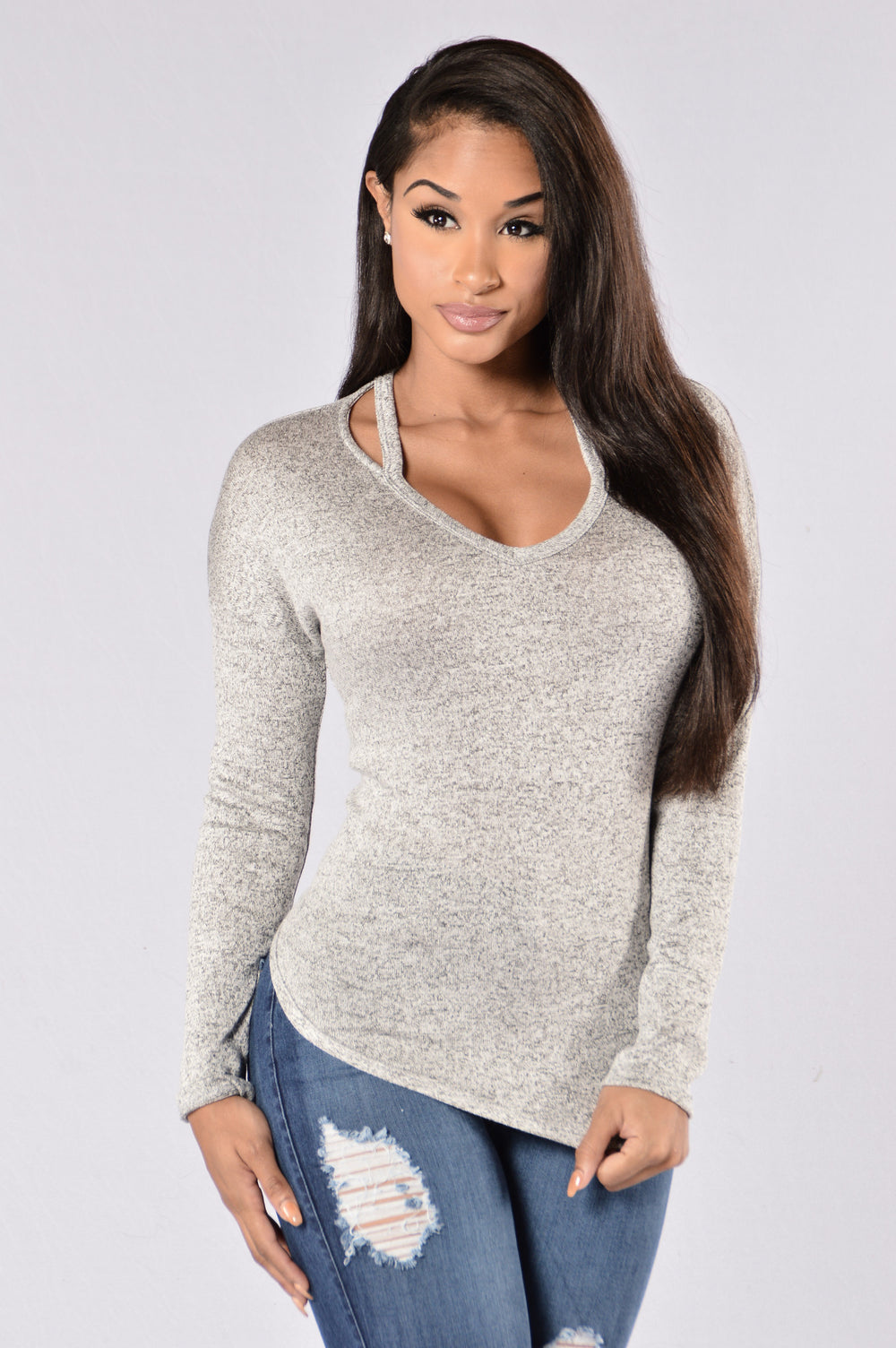 Work Of Art Top - Grey