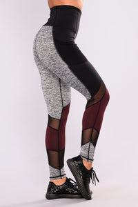 Beverly Active Leggings - Black/Grey