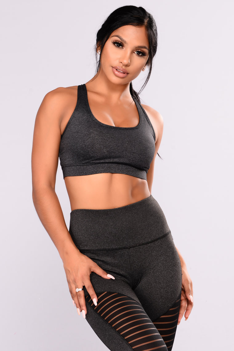 Andri Performance Active Sports Bra - Charcoal
