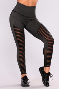 Deliah Active Leggings - Charcoal