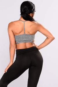 Suza Performance Active Sports Bra - Grey