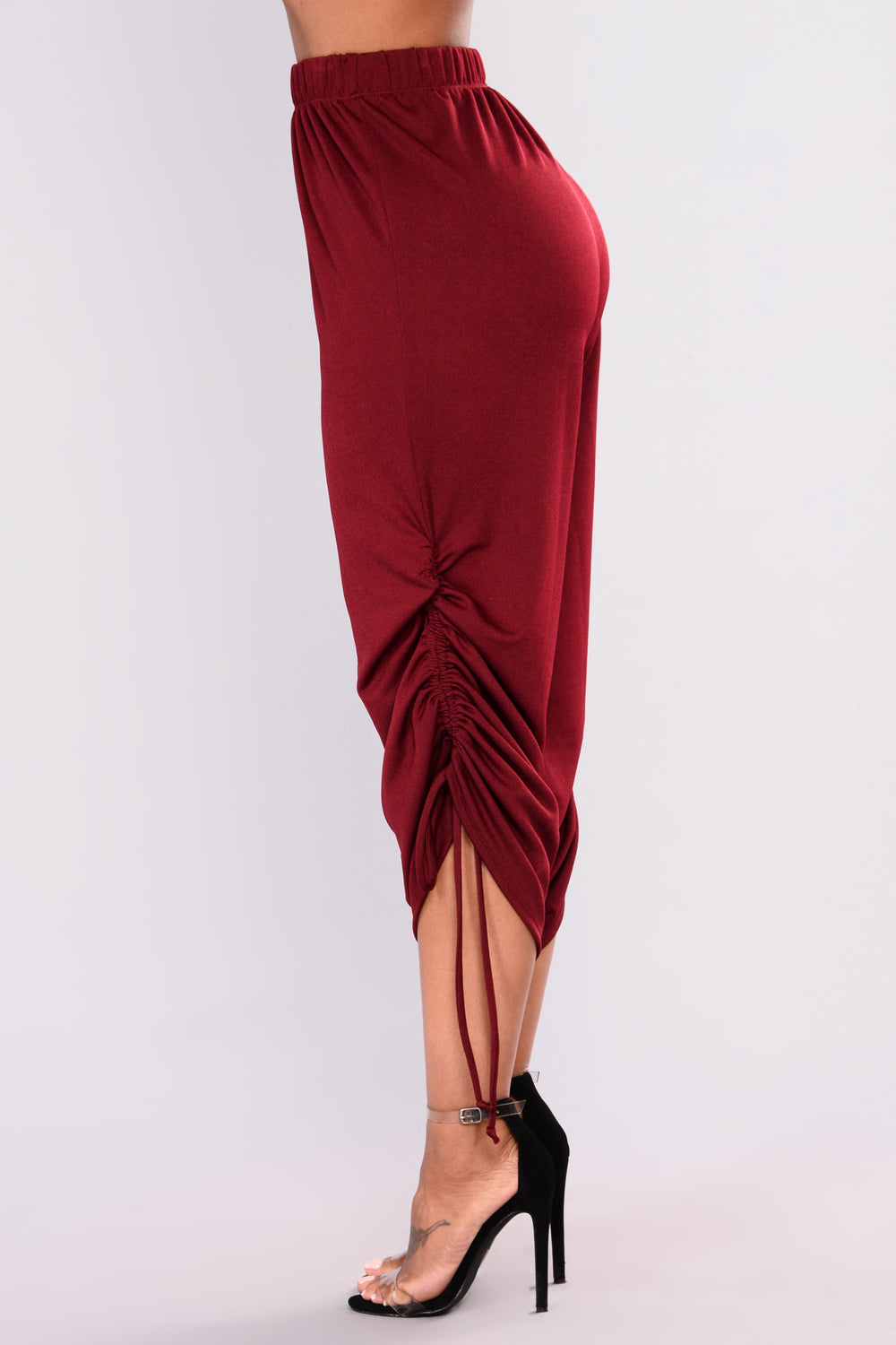 Wendy Knit Pants - Burgundy