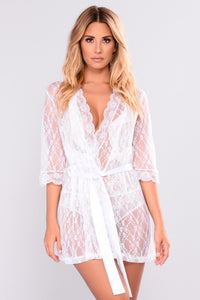 Luxury Lounge Robe - White