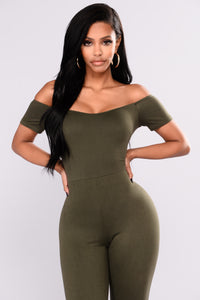 Love Your FN Body Jumpsuit - Olive
