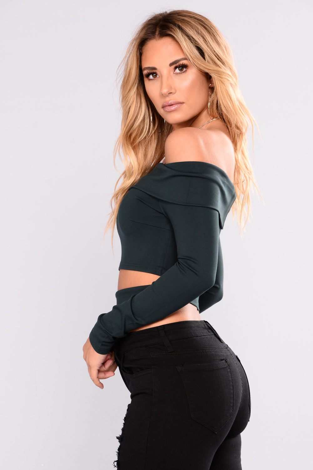 It Don't Stop Long Sleeve Top - Dark Olive