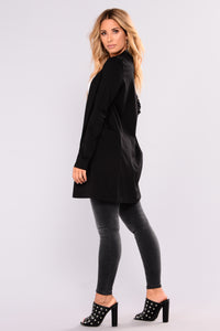 Riding Around Long Jacket - Black