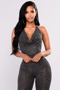 Anniversary Diamond Jumpsuit - Black