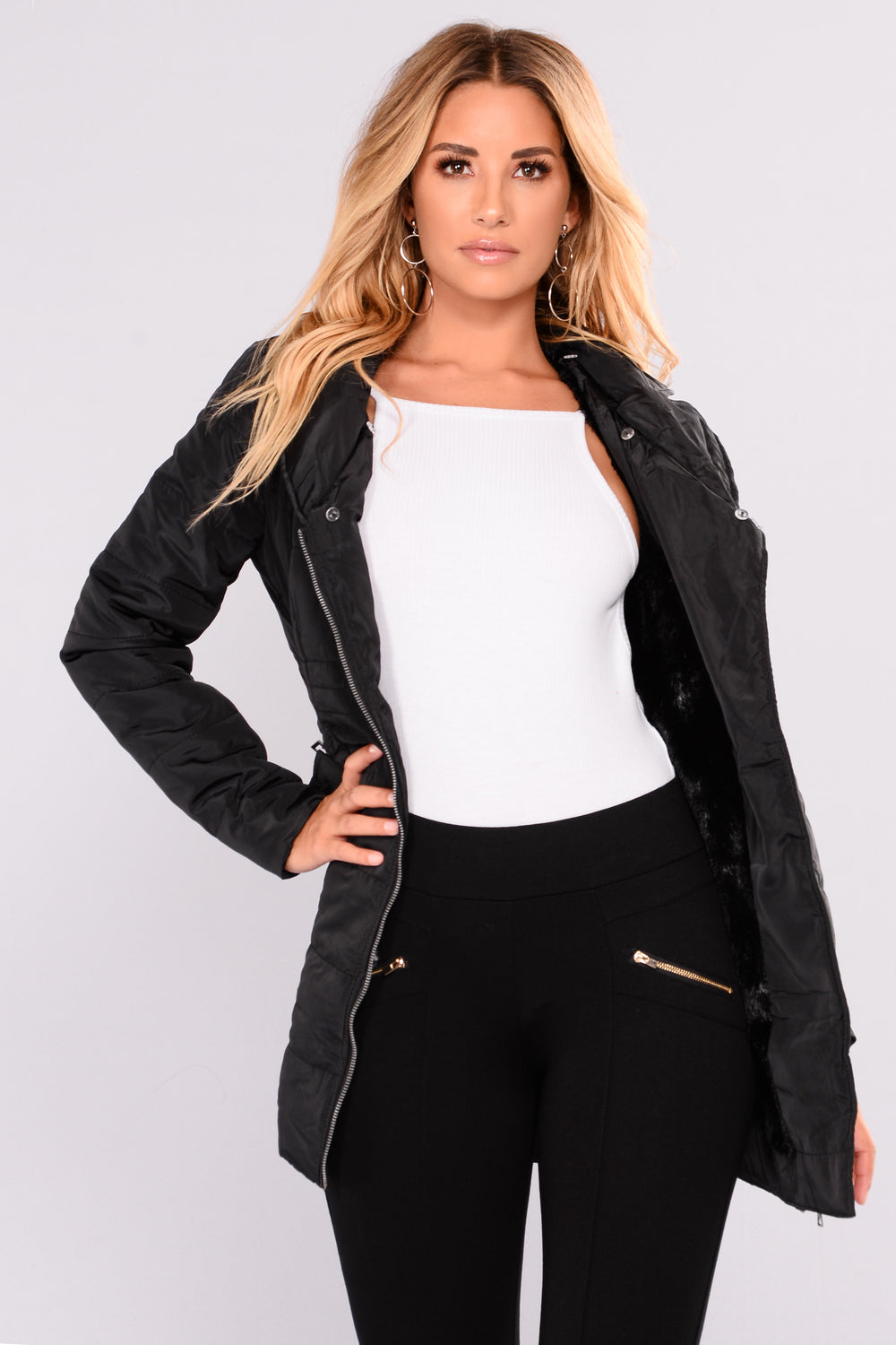 Yvonne Padded Jacket - Black