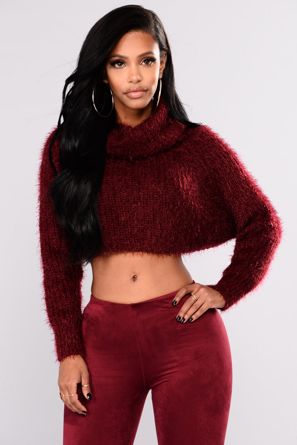 Dory Turtleneck Sweater - Wine