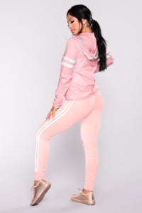 Easy Fit Velour Jogger - Pink