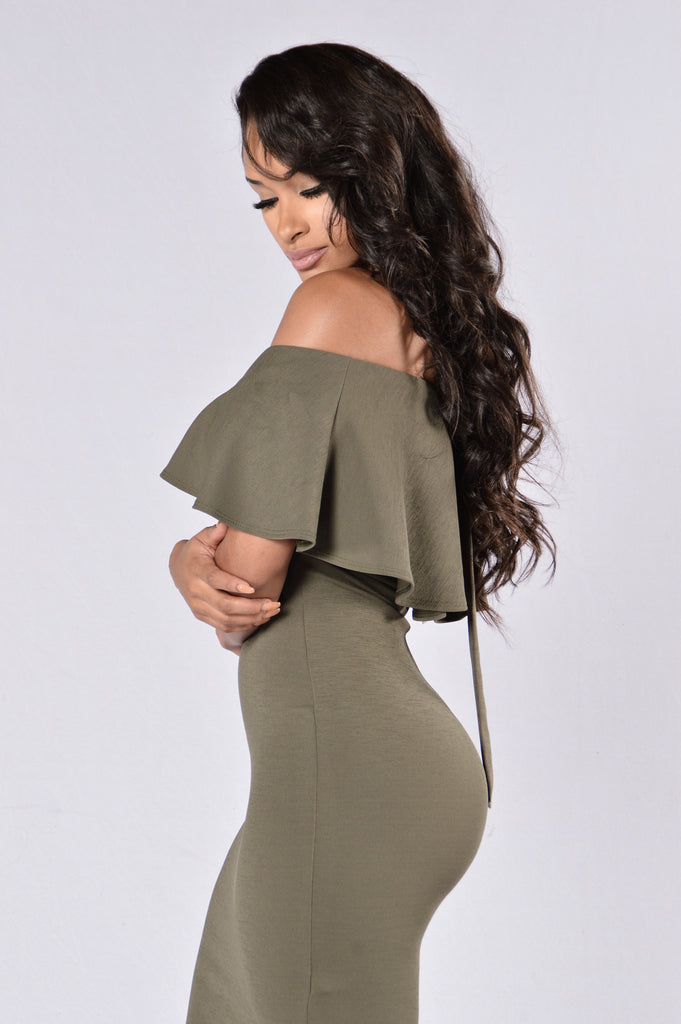 It's Fate Dress - Olive